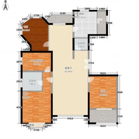 浦江公馆3室1厅2卫1厨183.00㎡户型图