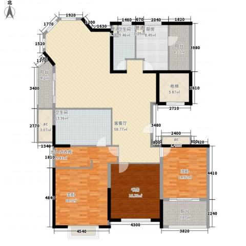 浦江公馆3室1厅2卫1厨193.00㎡户型图