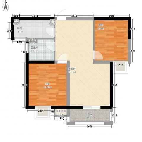 城置御水华庭2室1厅1卫1厨83.00㎡户型图