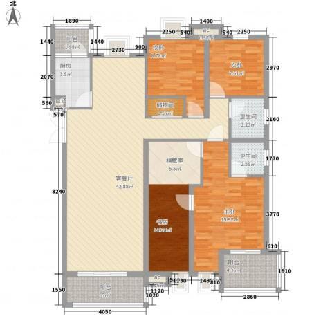 翠微品墅4室1厅2卫1厨163.00㎡户型图