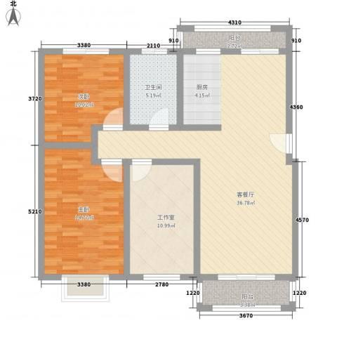 王仔假日2室1厅1卫0厨110.00㎡户型图