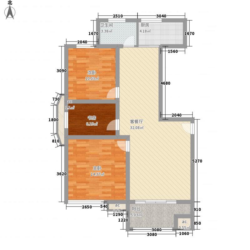 锦都豪庭110.00㎡锦都豪庭户型图GE户型3室2厅2卫1厨户型3室2厅2卫1厨