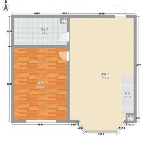 林海华庭1室1厅1卫0厨87.15㎡户型图