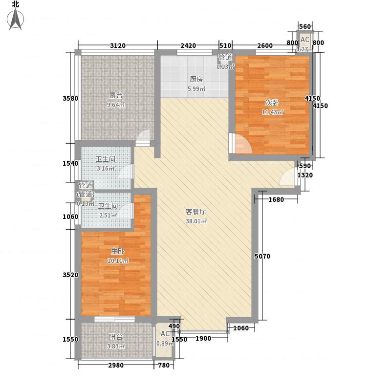 荣联・天下城55.58㎡B4户型1室1厅1卫1厨