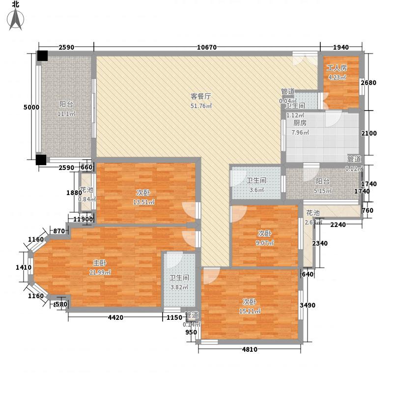 祈福南湾半岛215.00㎡祈福南湾半岛户型图4室2厅3卫户型10室