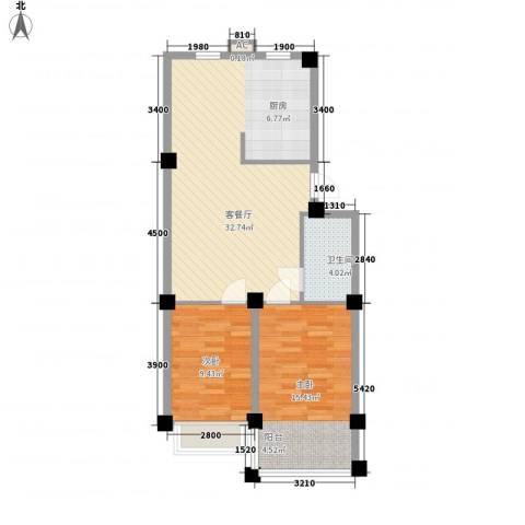 汇峰山海郡2室1厅1卫0厨69.46㎡户型图