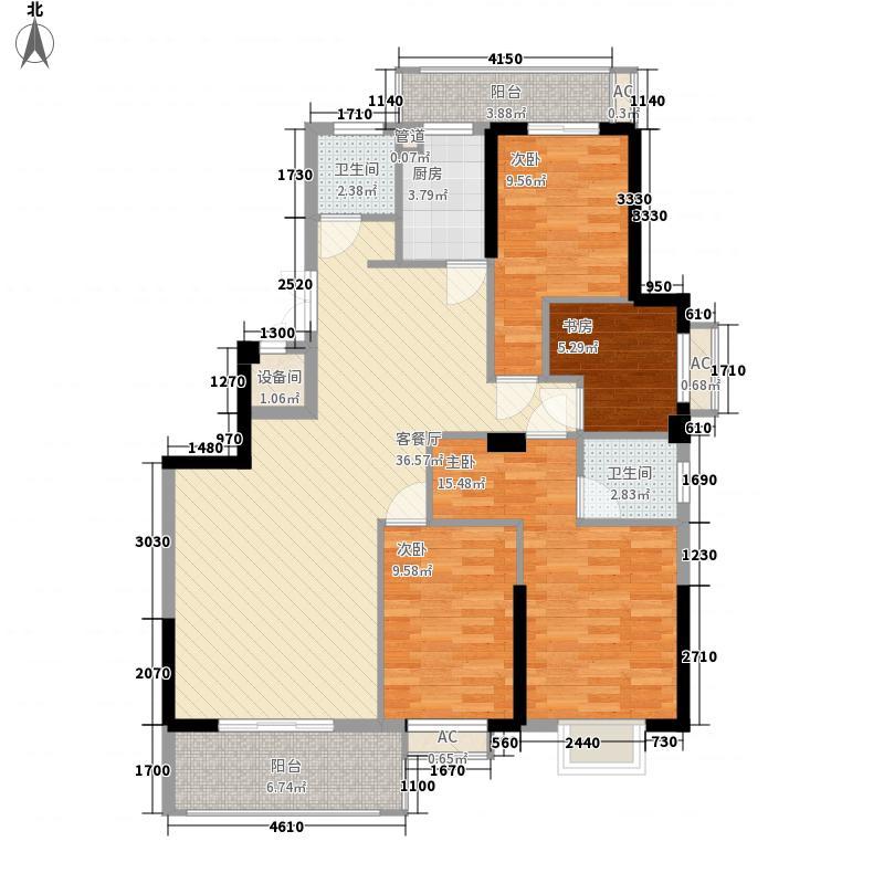 金辉天鹅湾二期户型图30#01单元 4室2厅2卫1厨