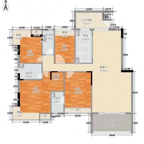 御泉山4室1厅3卫1厨177.00㎡户型图