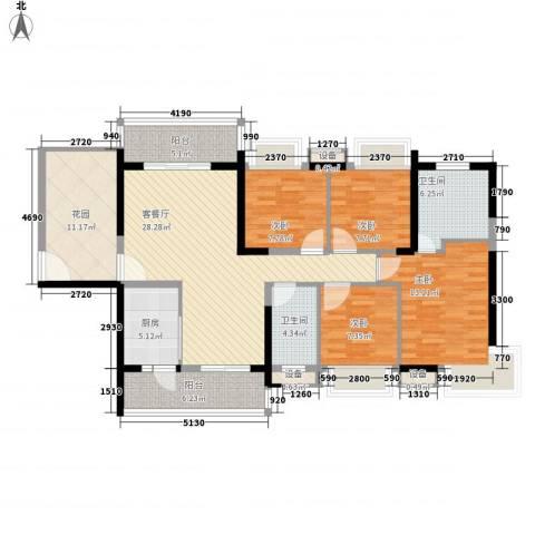 大欣城・世纪花园4室1厅2卫1厨150.00㎡户型图
