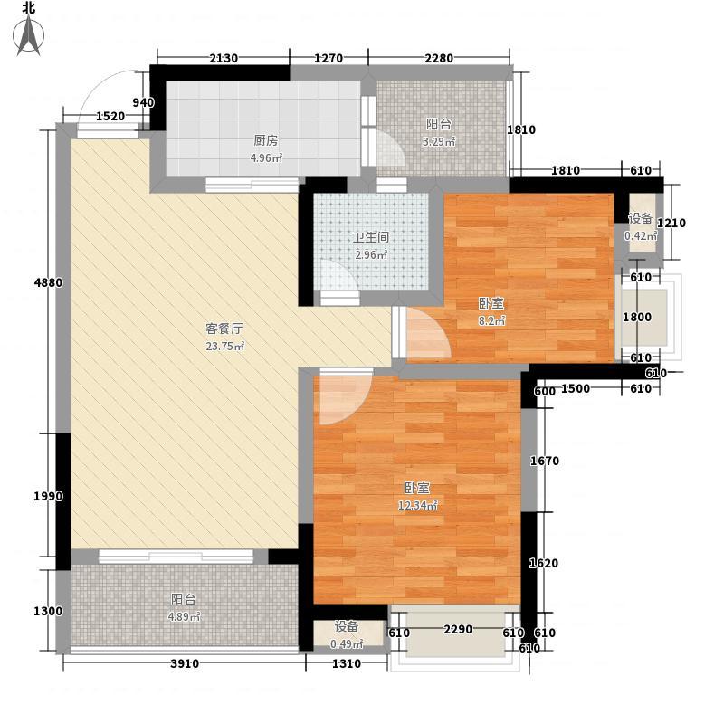 尚格博园二期4、5、6号楼标准层4号户型