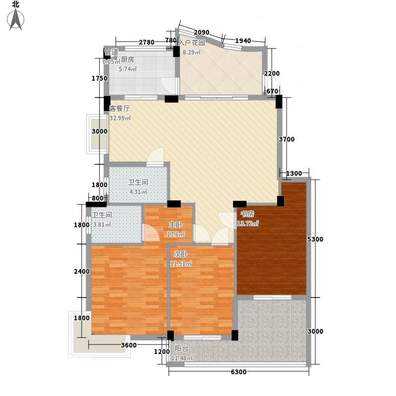 枫丹白鹭130.80㎡枫丹白鹭户型图3室2厅2卫户型10室