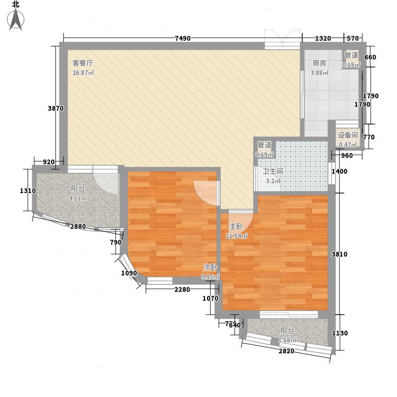 绿城玉兰公寓83.00㎡户型