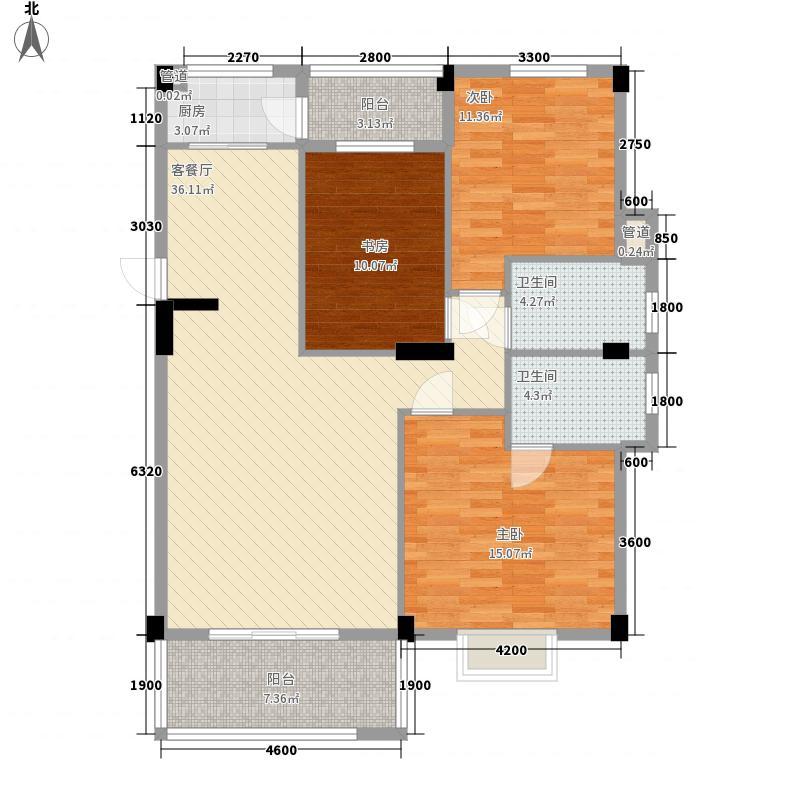 枫丹白鹭117.56㎡枫丹白鹭户型图3室2厅2卫户型10室