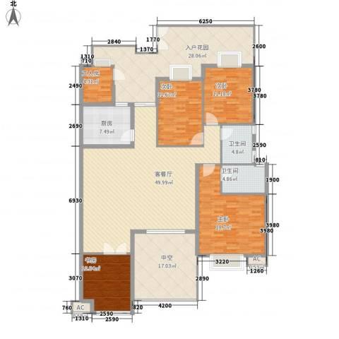 东方塞纳4室1厅2卫1厨235.00㎡户型图