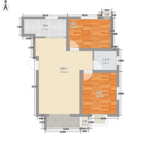 建业阳光花园1室1厅1卫1厨84.00㎡户型图
