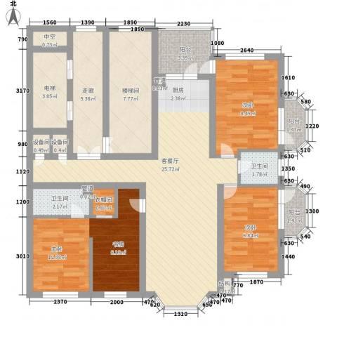 林海华庭3室1厅2卫0厨125.00㎡户型图