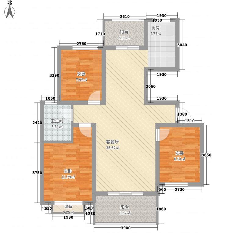 长春都市花园132.00㎡长春都市花园3室户型3室