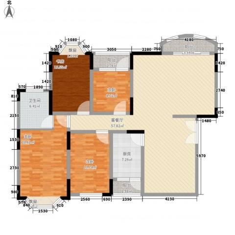 福安公寓4室1厅1卫1厨141.00㎡户型图