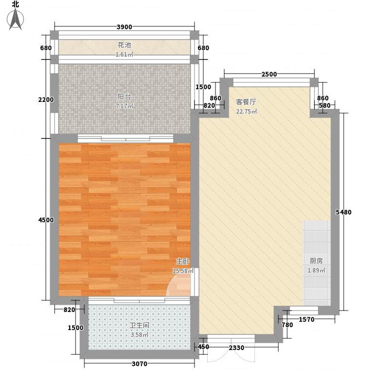 安富・雨林海68.78㎡安富・雨林海户型图B户型1室1厅1卫1厨户型1室1厅1卫1厨