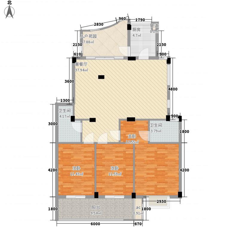 枫丹白鹭128.82㎡枫丹白鹭户型图4室2厅2卫户型10室