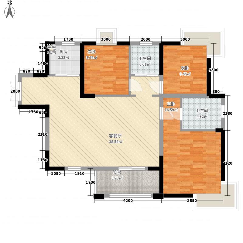 南国威尼斯城121.54㎡南国威尼斯城户型图米兰园B03户型3室2厅2卫1厨户型3室2厅2卫1厨