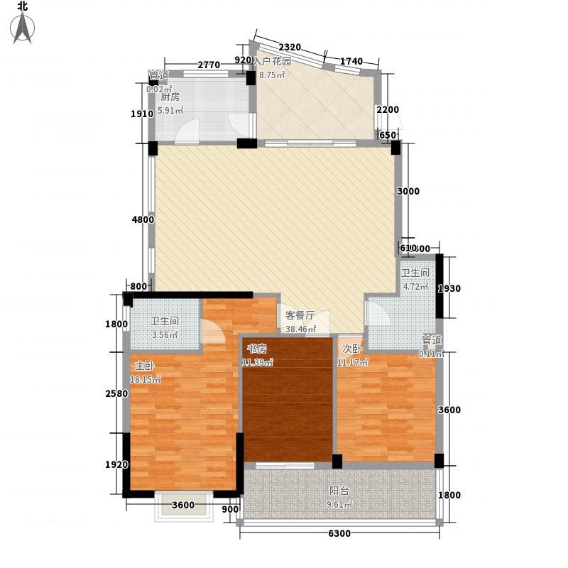枫丹白鹭130.58㎡枫丹白鹭户型图3室2厅2卫户型10室