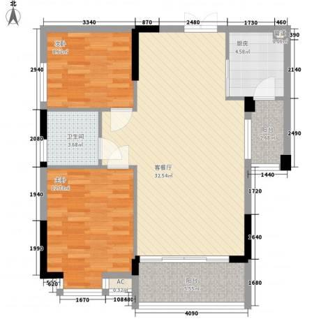 凤凰商贸城2室1厅1卫1厨100.00㎡户型图