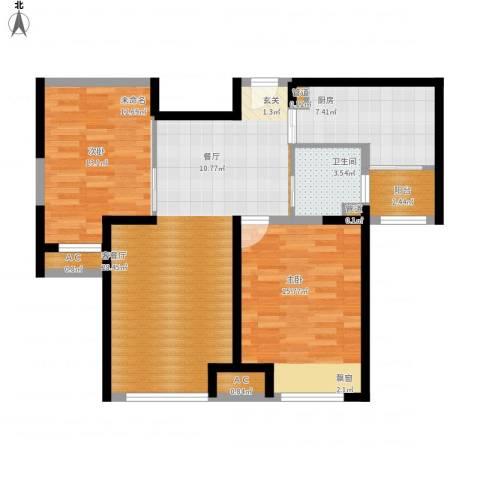 恒文星尚湾1室1厅1卫1厨104.00㎡户型图