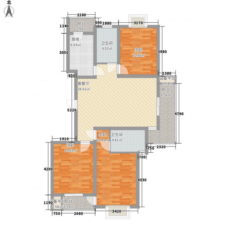 玉兰苑136.00㎡小区户型5室