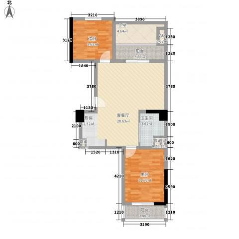 通商华富国际广场2室1厅1卫0厨97.00㎡户型图