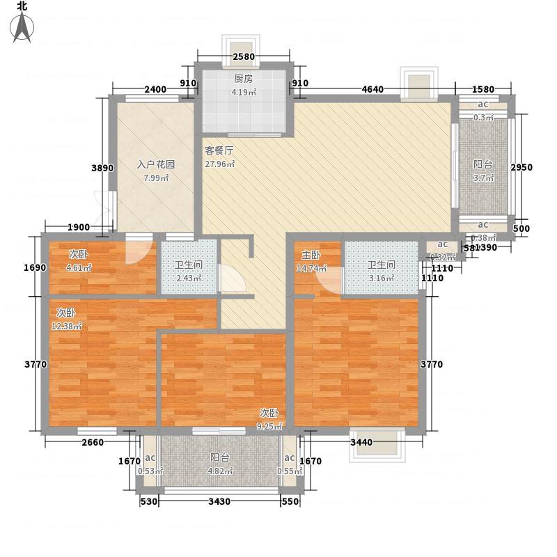 江南水都意境140.00㎡江南水都意境户型图F2户型4室2厅户型4室2厅