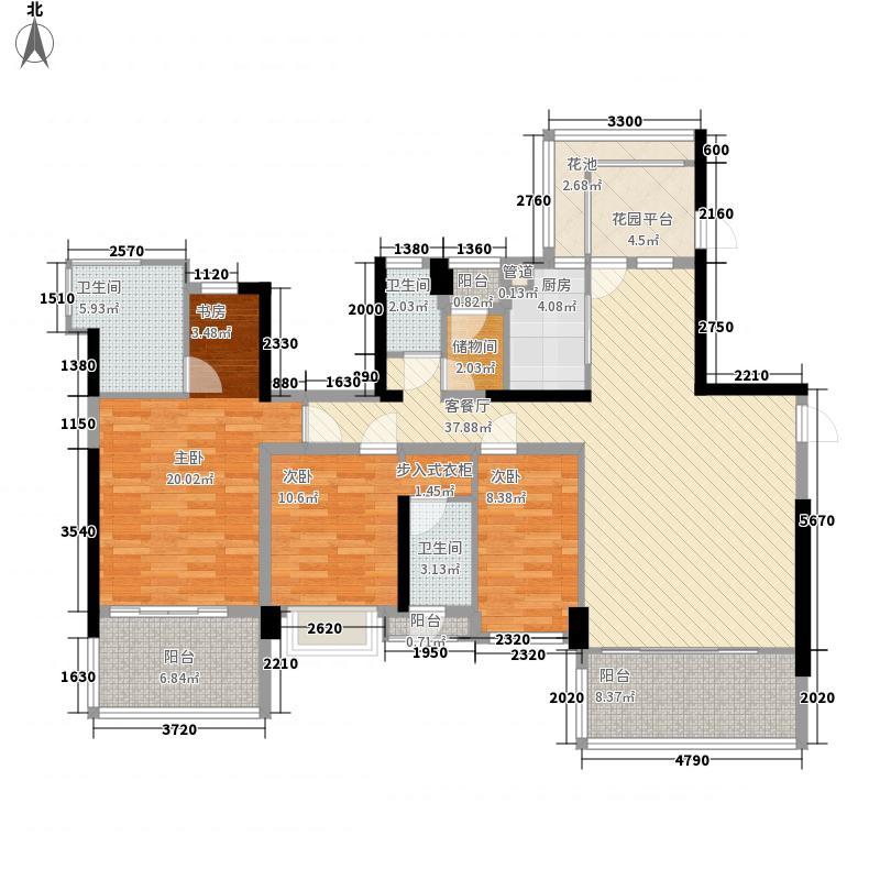 溪山171.40㎡溪山户型图户型7系户型图5室2厅2卫1厨户型5室2厅2卫1厨