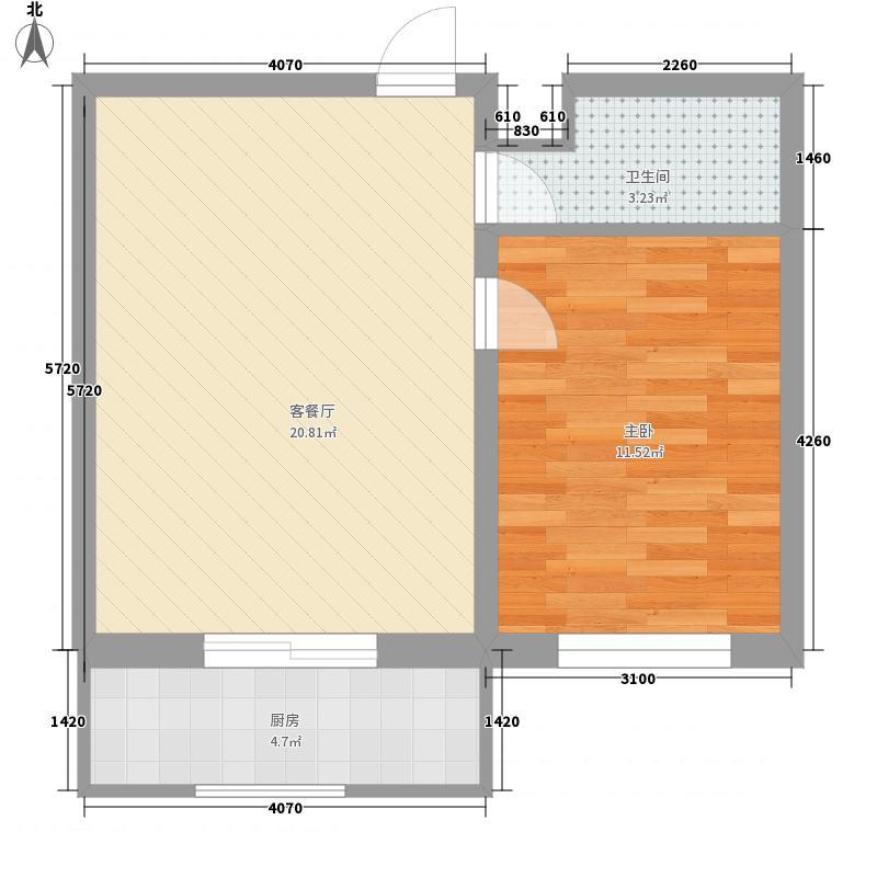 御景湾58.00㎡御景湾1室户型1室