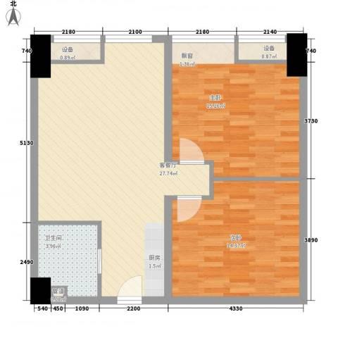 彩弘国际2室1厅1卫0厨92.00㎡户型图