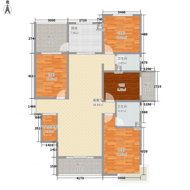 天水丽城二期15.67㎡标准层F-01户型4室2厅2卫1厨