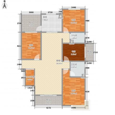 天水丽城二期4室1厅2卫1厨117.29㎡户型图