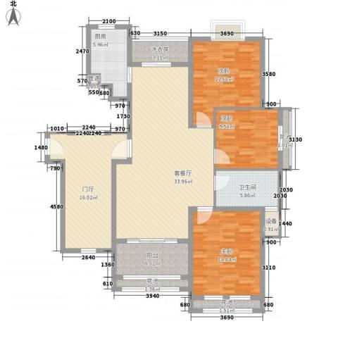 威尼斯水城别墅3室1厅1卫1厨163.00㎡户型图