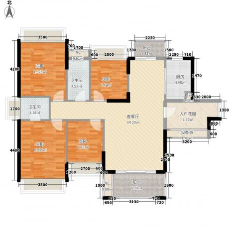 风临美丽湾4室1厅2卫1厨153.00㎡户型图