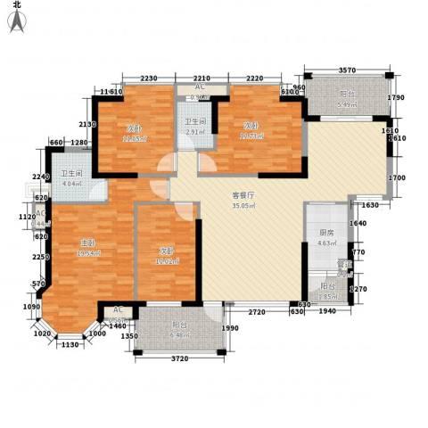 海景蓝湾4室1厅2卫1厨164.00㎡户型图