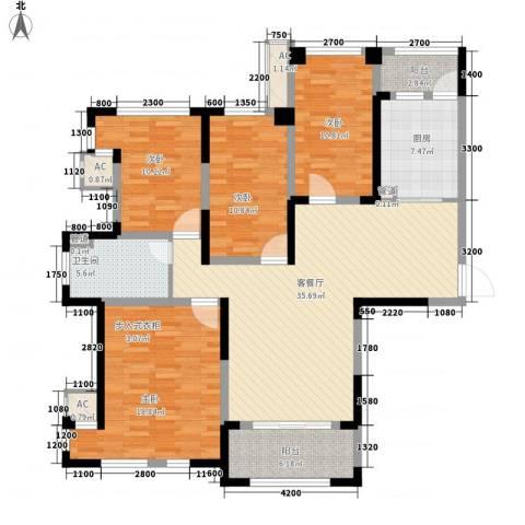 华邦光明世家4室1厅1卫1厨116.00㎡户型图
