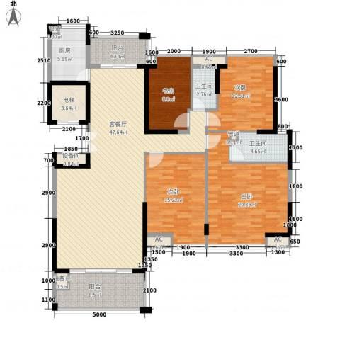 海景蓝湾4室1厅2卫1厨161.00㎡户型图
