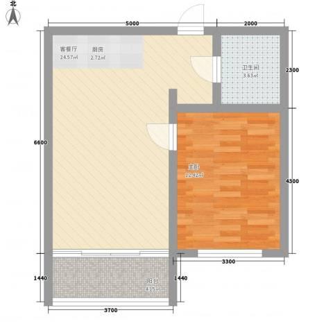 宅语原1室1厅1卫0厨64.00㎡户型图