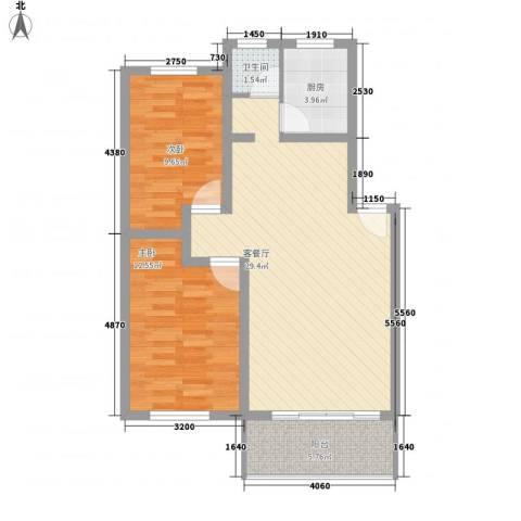 怡景民居2室1厅1卫1厨89.00㎡户型图