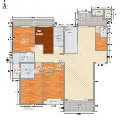 半山御景4室1厅4卫1厨218.00㎡户型图