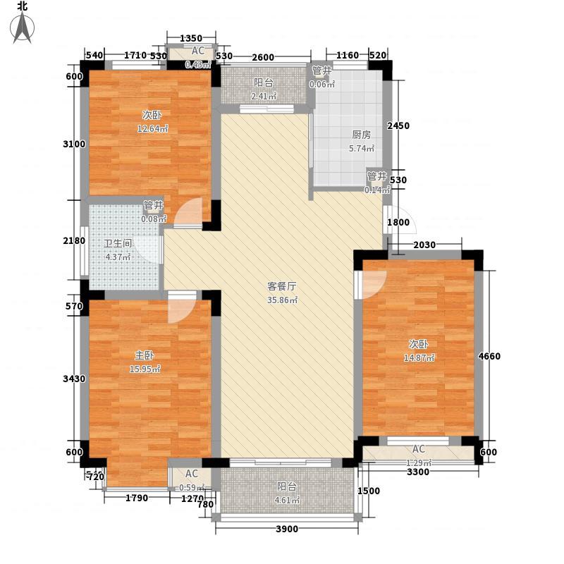 和一花园119.00㎡和一花园户型图20060724-A3户型3室2厅1卫1厨户型3室2厅1卫1厨