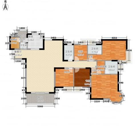 鸿景园5室1厅4卫1厨221.00㎡户型图
