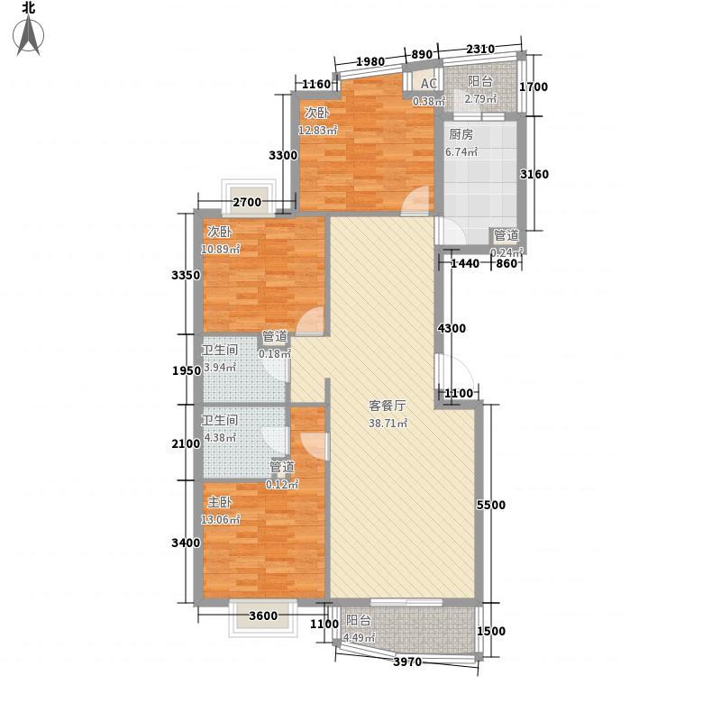 旗舰凯旋14.65㎡E1带电梯户型3室2厅2卫1厨