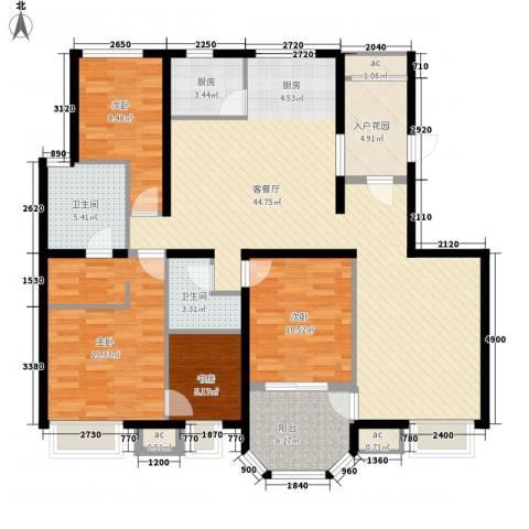 龙湖西小马项目4室1厅2卫1厨170.00㎡户型图