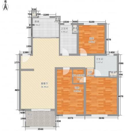 发能太阳海岸3室1厅2卫1厨125.00㎡户型图