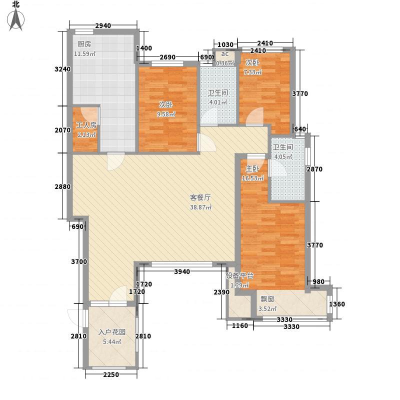 浑河湾139.74㎡浑河湾户型图D34室2厅2卫户型4室2厅2卫